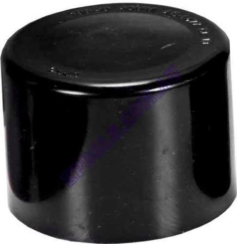 Black 50mm End Cap