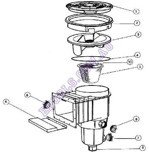quipmaster skimmer box diagram  u2013 epools pool shop
