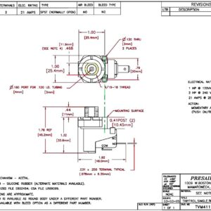 spa micro air switch TVM411 plan