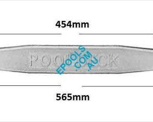 pooldeck step with measurements