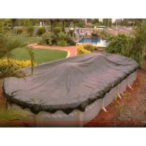 oval above ground pool leaf cover with floats