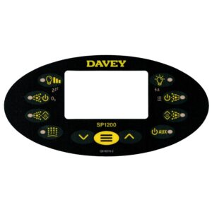 davey spapower sp1200 black touchpad overlay